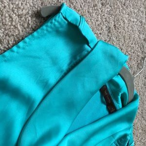 The Limited turquoise cowl neck blouse
